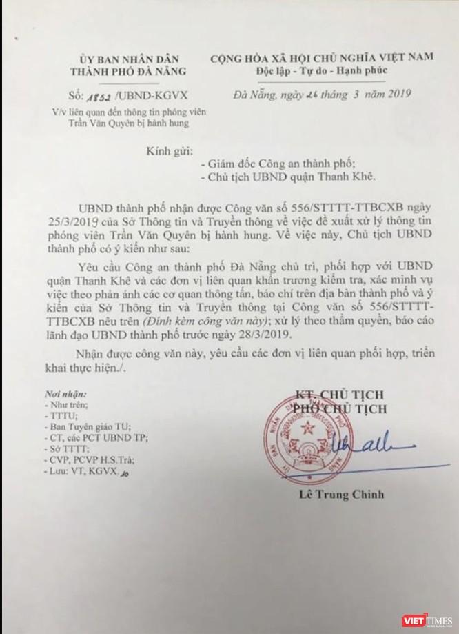 Đà Nẵng chỉ đạo làm rõ vụ phóng viên Báo Người Lao Động bị hành hung ảnh 1