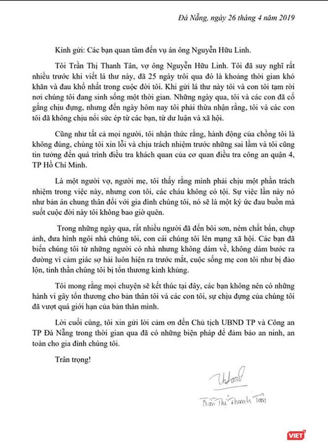 Vợ ông Nguyễn Hữu Linh xin rút đơn tố cáo vừa gửi Công an trước đó ảnh 2