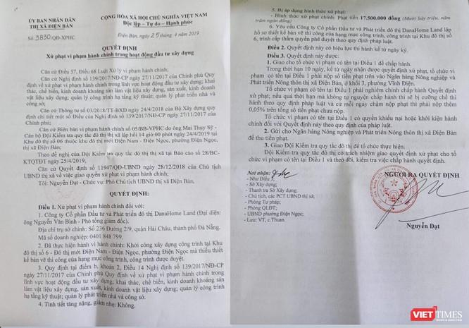 Vụ biệt thự của DanaHome Land ở Quảng Nam: Phạt 17,5 triệu đồng, dừng thi công đến khi hoàn thiện hồ sơ ảnh 1