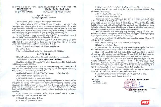 Đà Nẵng: Phạt tiền, yêu cầu dừng thi công nhiều hạng mục ở KDL Núi Thần Tài ảnh 1