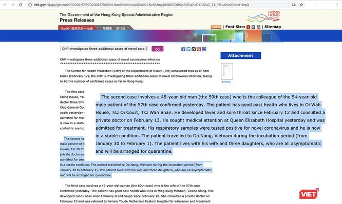 Sở Y tế Đà Nẵng nói gì về ca nhiễm COVID-19 ở Hong Kong từng ở Đà Nẵng ảnh 1