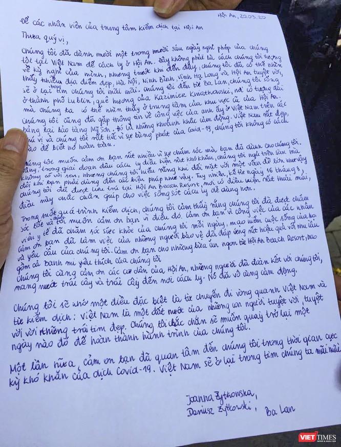 Xúc động bức thư của du khách Ba Lan gửi đến nhân viên y tế Hội An ảnh 1