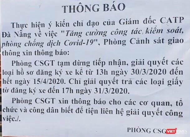 Đà Nẵng: Dừng đăng ký xe, chứng minh thư, hộ chiếu đến 15/4 ảnh 1
