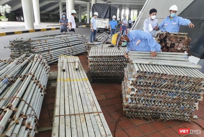 Đà Nẵng bắt đầu xây dựng bệnh viện dã chiến tại cung thể thao Tiên Sơn ảnh 7