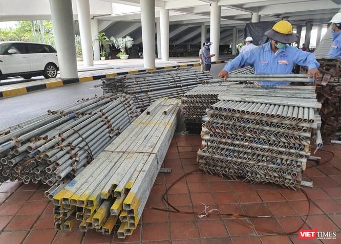 Đà Nẵng bắt đầu xây dựng bệnh viện dã chiến tại cung thể thao Tiên Sơn ảnh 6