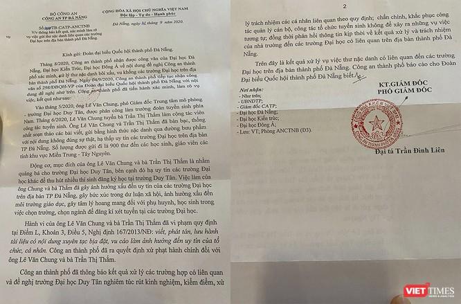 Công an TP Đà Nẵng kết luận ai đứng sau trò viết thư nặc danh bêu xấu các trường ĐH trên địa bàn? ảnh 1