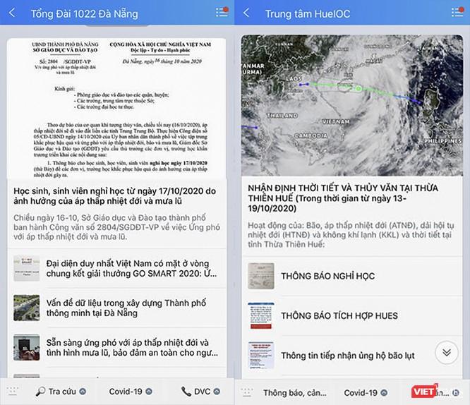 Người dân có thể cập nhật thông tin về mưa lũ, đường dây nóng hỗ trợ sơ tán, qua Zalo ảnh 2
