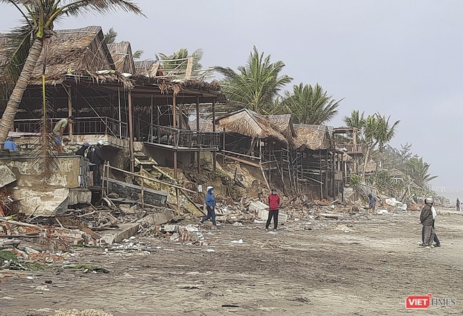 Hậu bão số 13, bãi biển du lịch An Bàng (Hội An) tan hoang ảnh 4