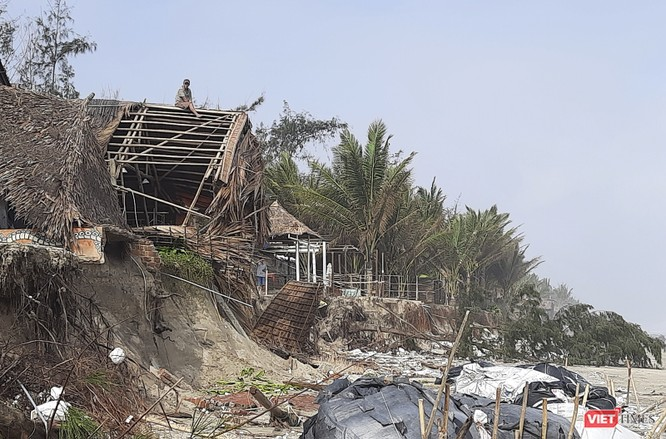 Hậu bão số 13, bãi biển du lịch An Bàng (Hội An) tan hoang ảnh 20