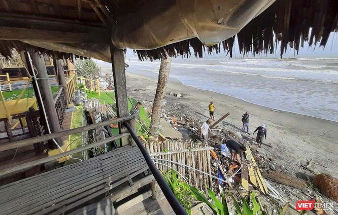 Hậu bão số 13, bãi biển du lịch An Bàng (Hội An) tan hoang ảnh 13