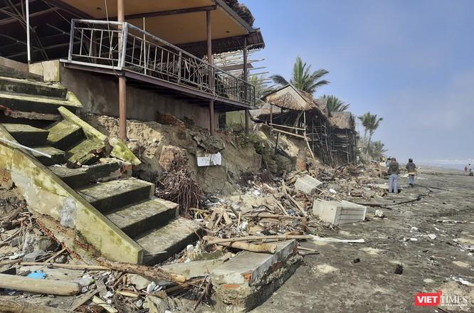 Hậu bão số 13, bãi biển du lịch An Bàng (Hội An) tan hoang ảnh 3