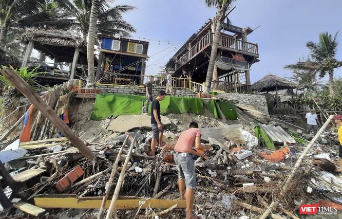 Hậu bão số 13, bãi biển du lịch An Bàng (Hội An) tan hoang ảnh 18