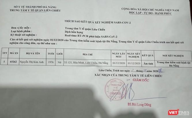 Đà Nẵng xuất hiện phiếu xét nghiệm COVID-19 dương tính giả mạo ảnh 1