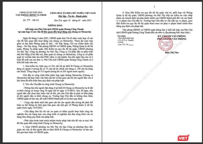 """Đà Nẵng: """"Tối hậu thư"""" của quận Sơn Trà đối với chung cư Monarchy block B bây giờ ra sao? ảnh 1"""