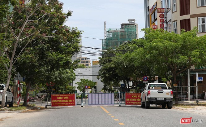 Ảnh: Cận cảnh chốt kiểm soát 5 phường trên địa bàn quận Sơn Trà (Đà Nẵng) ảnh 9