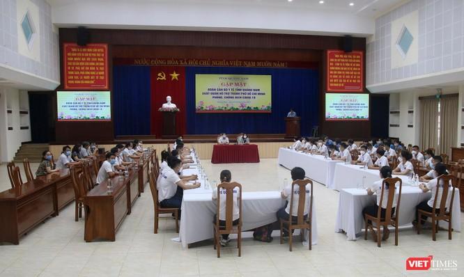 Quảng Nam: Đoàn y bác sĩ tình nguyện lên đường hỗ trợ TP HCM chống dịch COVID-19 ảnh 2
