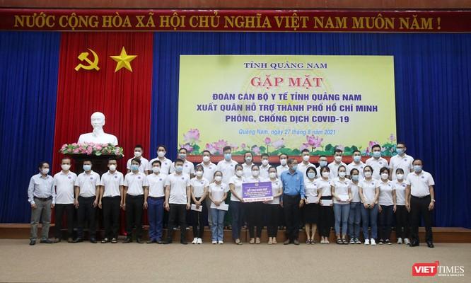 Quảng Nam: Đoàn y bác sĩ tình nguyện lên đường hỗ trợ TP HCM chống dịch COVID-19 ảnh 1