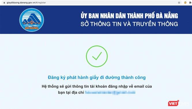 Đà Nẵng cấp giấy đi đường QRCode cho người dân, doanh nghiệp qua ứng dụng trực tuyến ảnh 2