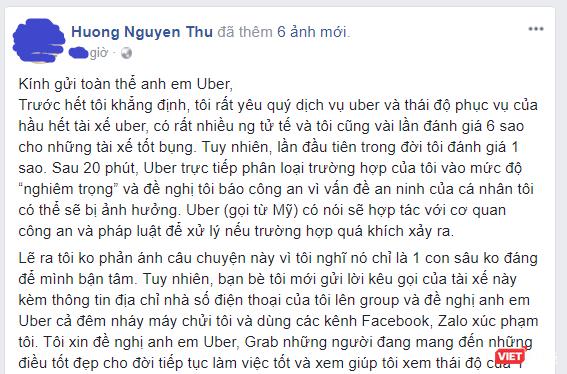 Đoạn chia sẻ của chị Hương nhanh chóng được lan truyền trên mạng xã hội.
