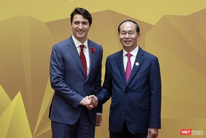 Chủ tịch nước Trần Đại Quang và Thủ tướng Canada Justin