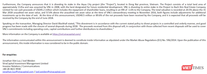 Lộ diện nhà đầu tư đã trả 45,2 triệu USD cho VinaCapital để mua Aqua City ảnh 1