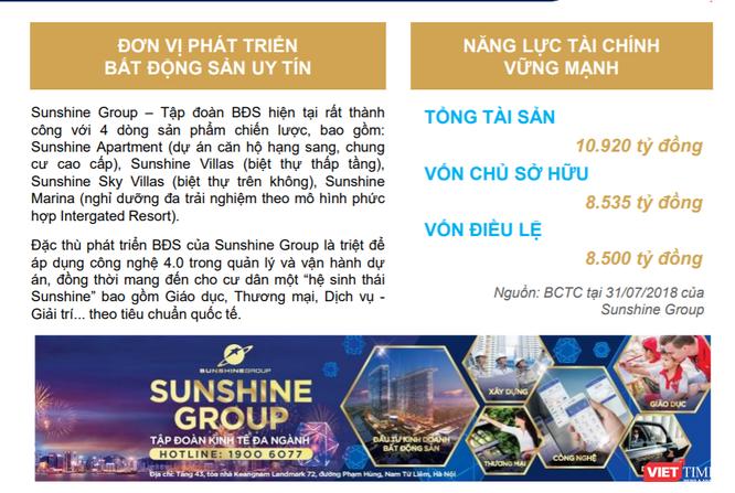 Về tình hình tài sản của Sunshine Group ảnh 1