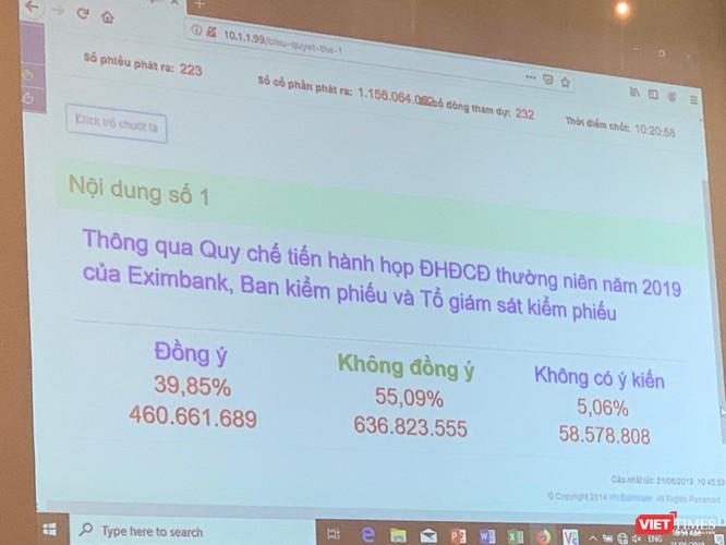 """ĐHĐCĐ thường niên 2019 của Eximbank lại """"vỡ""""! ảnh 7"""