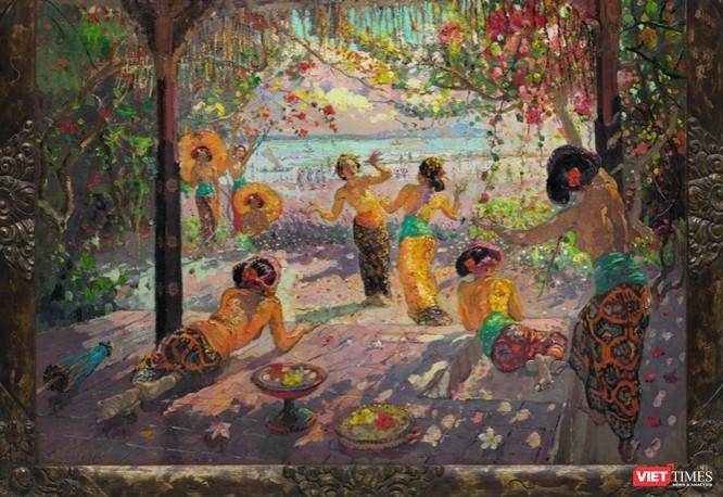 Tranh nghi là giả của danh họa Nguyễn Gia Trí thất bại trong phiên đấu giá Sotheby's ảnh 1