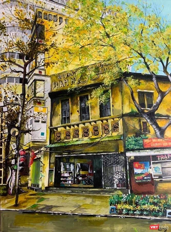 Một góc phố Hà Nội trong tranh Trần Nam Long