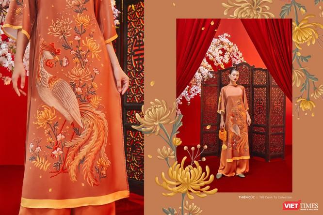 Những tà áo xuân đẹp lung linh với tranh Tứ Bình đón Tết Canh Tý ảnh 3