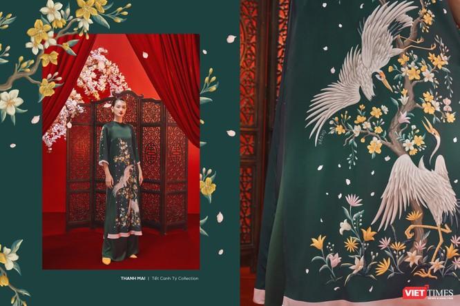 Những tà áo xuân đẹp lung linh với tranh Tứ Bình đón Tết Canh Tý ảnh 4