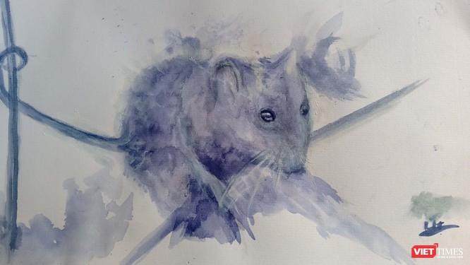 Độc đáo tranh chuột đón Tết Canh Tý vẽ bằng màu hoa, tương ớt, cà phê ảnh 6