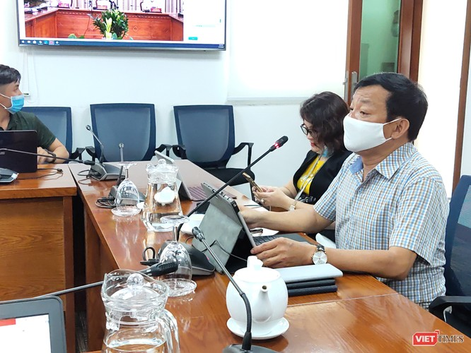 Ông Nguyễn Văn Khanh trong cuộc họp tại Trung tâm Báo chí (Ảnh: Hòa Bình)