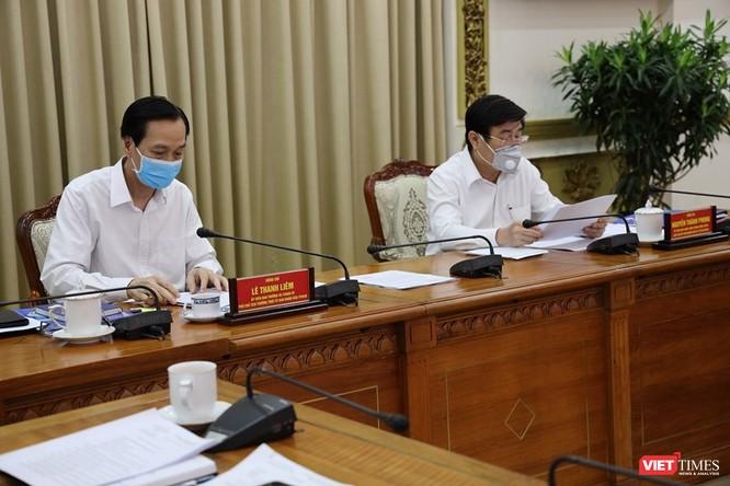 Phó Chủ tịch thường trực Lê Thanh Liêm và Chủ tịch UBND TP.HCM Nguyễn Thành Phong (Ảnh: TTBC)