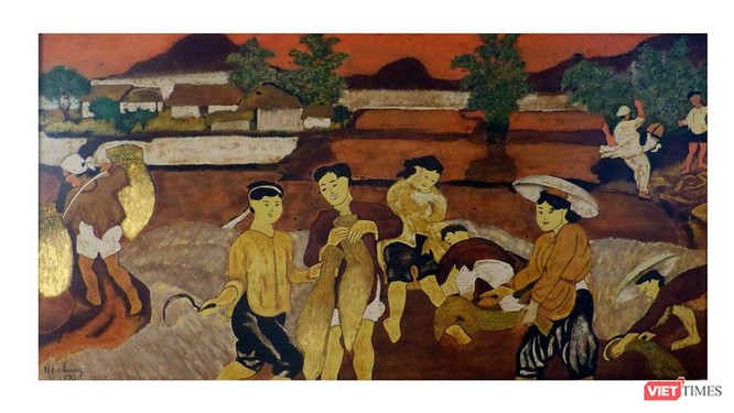 Tranh giả được ghi tên họa sĩ Nguyễn Tiến Chung để bán ra thị trường kiếm lời (Ảnh: