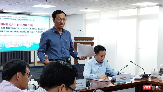 Ông Lê Hoài Nam, Phó Giám đốc Sở GD&ĐT TP.HCM nói về mâu thuẫn khó hòa giải (Ảnh: Hòa Bình)