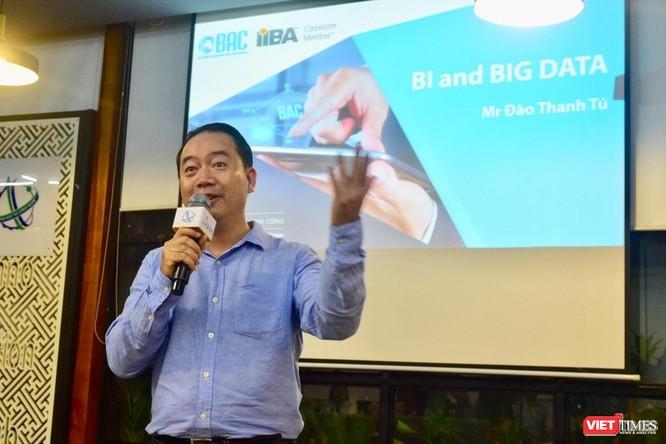 Ông Đào Thanh Tú, Phó Tổng giám đốc Công nghệ Thông tin của Prudential nói về chuyển đổi số tại một hội thảo