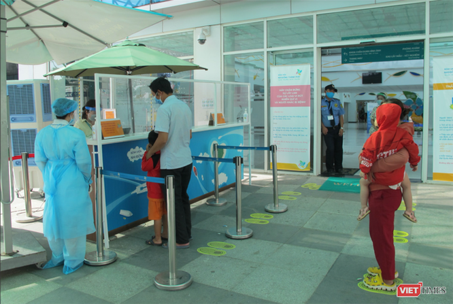 Khai báo y tế tại Bệnh viện Nhi đồng Thành phố (Ảnh: BVCC)