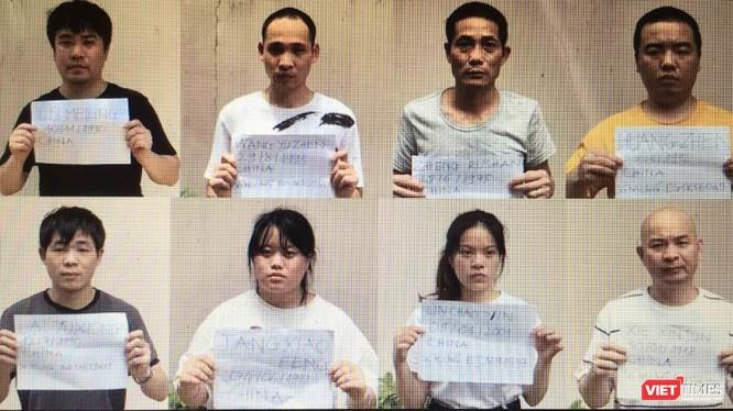 Nhóm người Trung Quốc nhập cảnh trái phép gần Tân Sơn Nhất bị bắt giữ hôm 30/7 (Ảnh: CATP)
