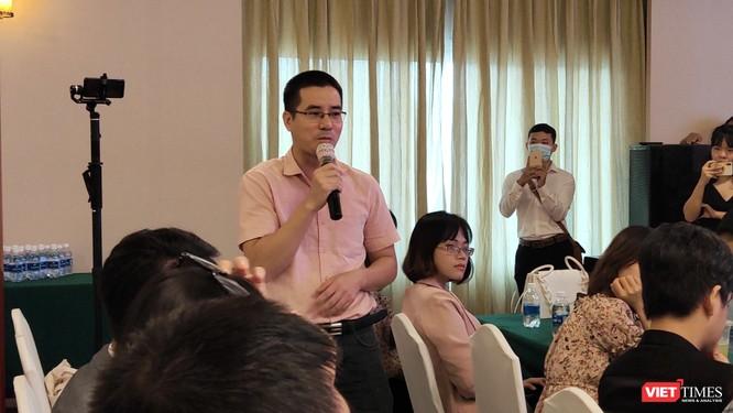 Tác giả Nguyễn Quốc Vương phát biểu khi nhận giải Sách hay 2020