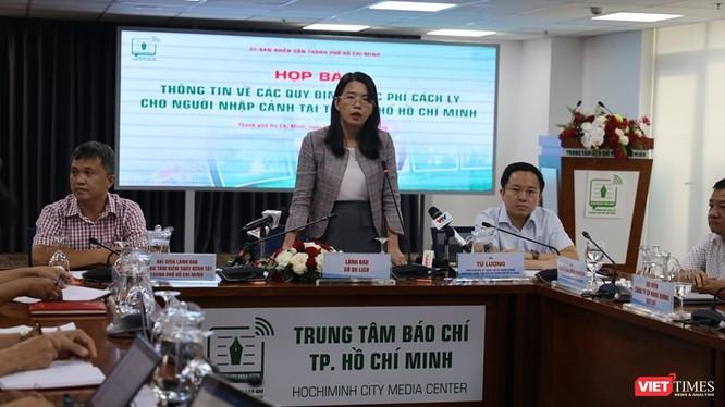 Bà Nguyễn Thị Ánh Hoa - Phó Giám đốc Sở Du lịch phát biểu tại họp báo. Ảnh: Khang Minh
