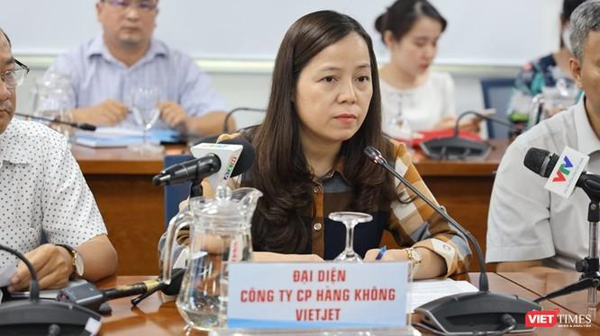 Phó tổng Giám đốc phụ trách công ty hàng không VietJet - bà Nguyễn Thị Thúy Bình. Ảnh: Khang Minh