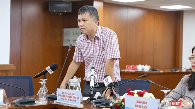 Phó Giám đốc Trung tâm Kiểm soát bệnh tật TP.HCM, ông Phan Thanh Tâm. Ảnh: Khang Minh