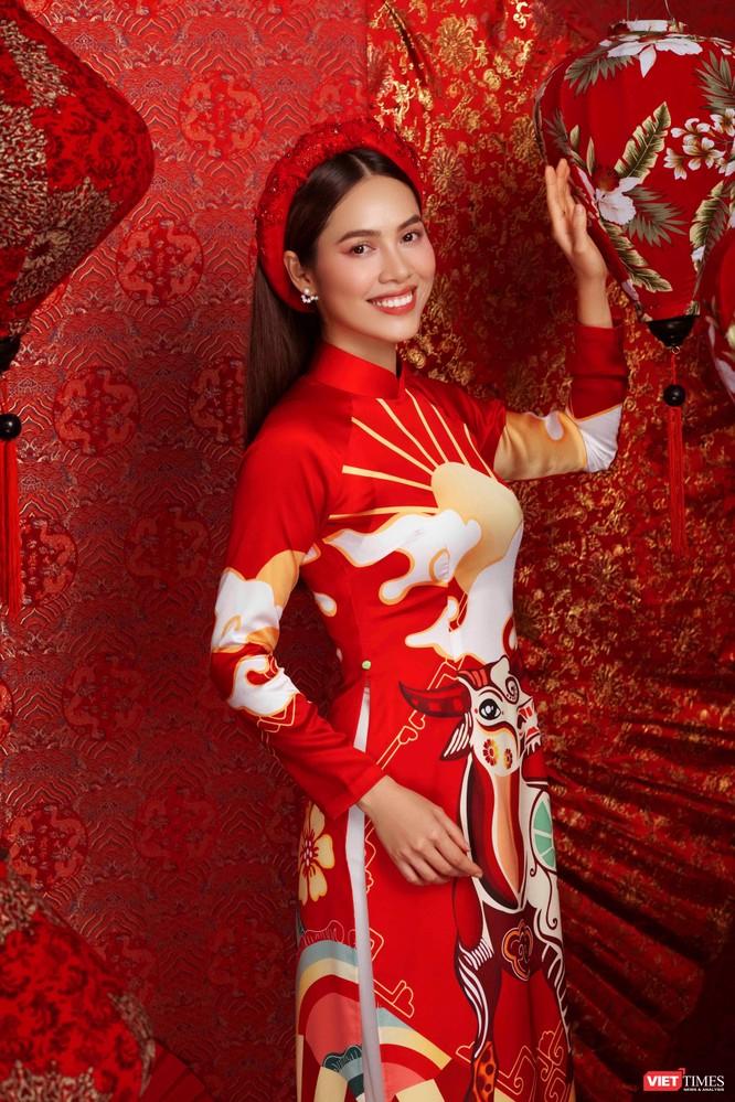 Hoa hậu, Á hậu rạng rỡ chúc Tết Tân Sửu 2021 ảnh 6