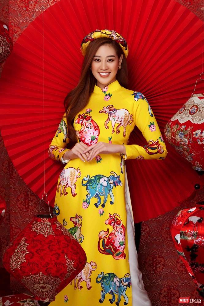 Hoa hậu, Á hậu rạng rỡ chúc Tết Tân Sửu 2021 ảnh 2