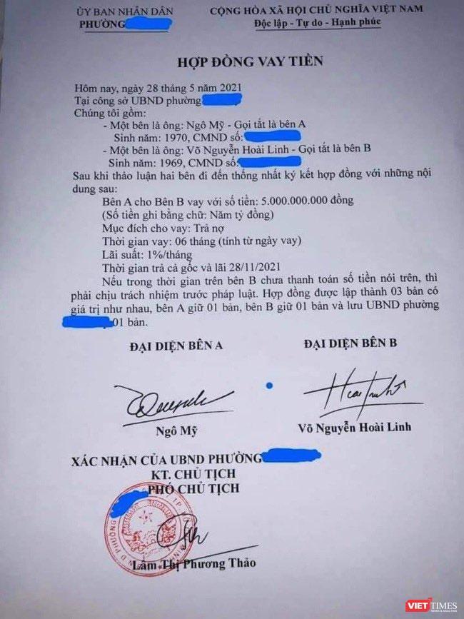 Làm giả hợp đồng vay tiền đứng tên nghệ sĩ Hoài Linh có thể bị phạt tù 5 năm ảnh 1