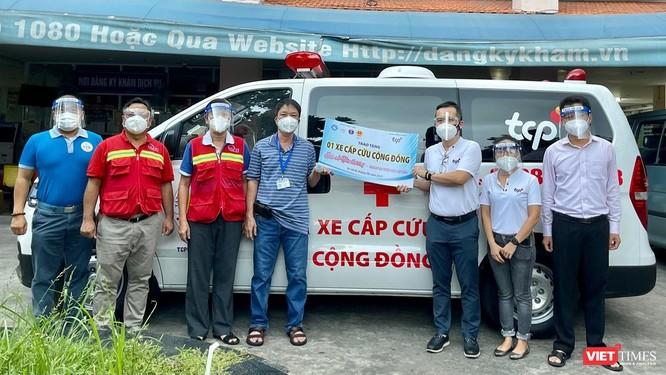 Hàng ngàn bình ô xy và xe cấp cứu trao tặng tâm dịch TP.HCM ảnh 2