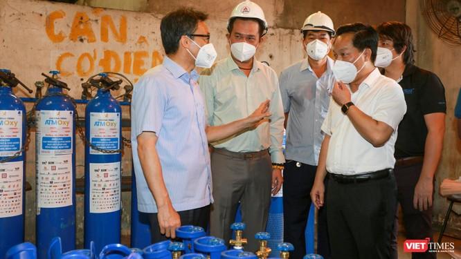 Phó Thủ tướng Vũ Đức Đam thăm Trạm bơm Oxy Thủ Đức, tiếp sức ATM Oxy ảnh 2