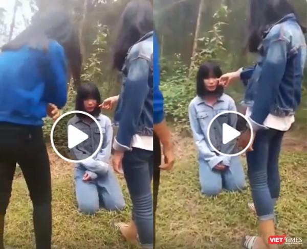 Nữ sinh Nghệ An bị ba bạn tát vào mặt ảnh 1