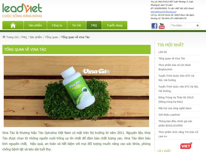 2 website quảng cáo sản phẩm Vina tảo và Egorex Omega 3.6.9 có dấu hiệu lừa dối ảnh 1